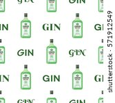 gin bottles seamless pattern....   Shutterstock .eps vector #571912549
