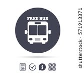 bus free sign icon. public... | Shutterstock .eps vector #571913371