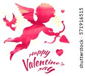 happy valentines day  vector... | Shutterstock .eps vector #571916515