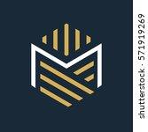 modern letter m logo.  | Shutterstock .eps vector #571919269