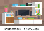 a set of furniture for the... | Shutterstock .eps vector #571922251
