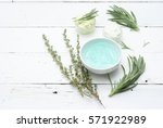 cosmetics with lavender and... | Shutterstock . vector #571922989