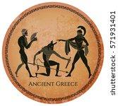 ancient greece scene. classical ...   Shutterstock .eps vector #571931401