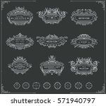 collection of vintage patterns. ... | Shutterstock .eps vector #571940797