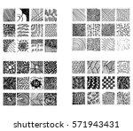 monochrome hipster prints ... | Shutterstock .eps vector #571943431