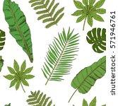 floral seamless pattern.... | Shutterstock .eps vector #571946761