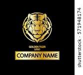 golden tiger company logo.black ... | Shutterstock .eps vector #571948174