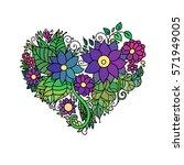 ornamental st.valentine's... | Shutterstock .eps vector #571949005