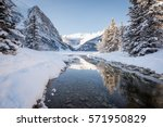 Winter Mountain Reflection In...