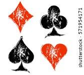 vector set of grunge graphic... | Shutterstock .eps vector #571954171