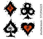 vector set of grunge graphic... | Shutterstock .eps vector #571954225