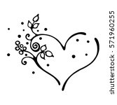 vector hand drawn illustration  ... | Shutterstock .eps vector #571960255