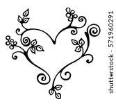 vector hand drawn illustration  ... | Shutterstock .eps vector #571960291