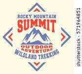 t shirt print design. mountains ... | Shutterstock .eps vector #571964851
