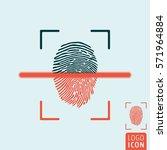 fingerprint scanning icon....