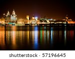 night time liverpool city...   Shutterstock . vector #57196645