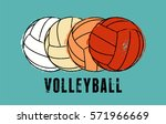 volleyball typographical... | Shutterstock .eps vector #571966669