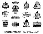 vector set of wild forest and... | Shutterstock .eps vector #571967869