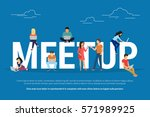 meetup concept illustration of... | Shutterstock .eps vector #571989925