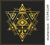 sacred geometry symbol with...   Shutterstock .eps vector #571991149