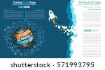 startup landing webpage or... | Shutterstock .eps vector #571993795