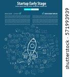startup landing webpage or... | Shutterstock .eps vector #571993939