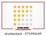 5 star rating icon vector...   Shutterstock .eps vector #571994149