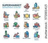 supermarket department icon set ...   Shutterstock .eps vector #572001415