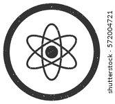 atom grainy textured icon... | Shutterstock .eps vector #572004721