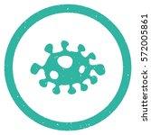 bacteria grainy textured icon...   Shutterstock .eps vector #572005861