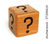 Wooden Dice With Question Mark...