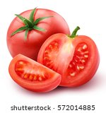 Red Tomato Isolated On White...