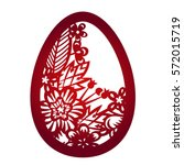 laser cutting flower pattern... | Shutterstock .eps vector #572015719