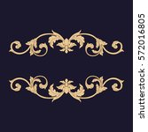 gold vintage baroque ornament... | Shutterstock .eps vector #572016805