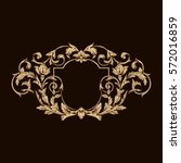 gold vintage baroque ornament... | Shutterstock .eps vector #572016859