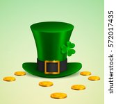 st. patrick's day leprechaun... | Shutterstock .eps vector #572017435