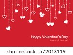 red greeting card for... | Shutterstock . vector #572018119