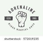 vintage mixed martial arts logo ... | Shutterstock .eps vector #572019235