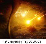 dramatic apocalyptic background ... | Shutterstock . vector #572019985