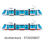municipal electric tram vector... | Shutterstock .eps vector #572020837