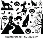 halloween collection. | Shutterstock .eps vector #57202129