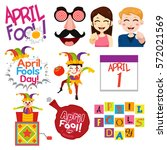 a vector illustration of april... | Shutterstock .eps vector #572021569
