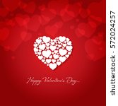 happy valentines day greeting... | Shutterstock .eps vector #572024257
