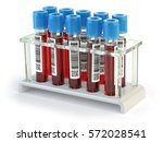 blood test samples tubes... | Shutterstock . vector #572028541