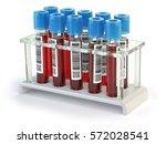 blood test samples tubes... | Shutterstock . vector #572028541