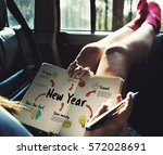 new year plan goals concept | Shutterstock . vector #572028691