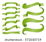 ribbon banners isolated on... | Shutterstock .eps vector #572030719