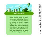 green city concept. vector... | Shutterstock .eps vector #572031235