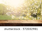 empty table for display montages | Shutterstock . vector #572032981