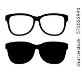 sunglasses vector icon on white ... | Shutterstock .eps vector #572033941